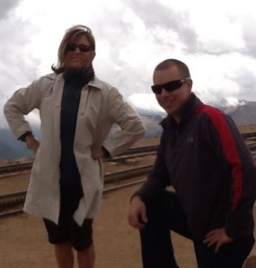 Graham and I, Pikes Peak, June 2011.
